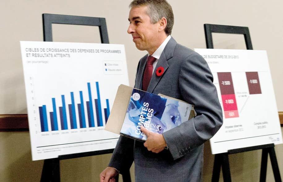 Le ministre des Finances et de l'Économie, Nicolas Marceau, prévoit une baisse significative du PIB nominal.