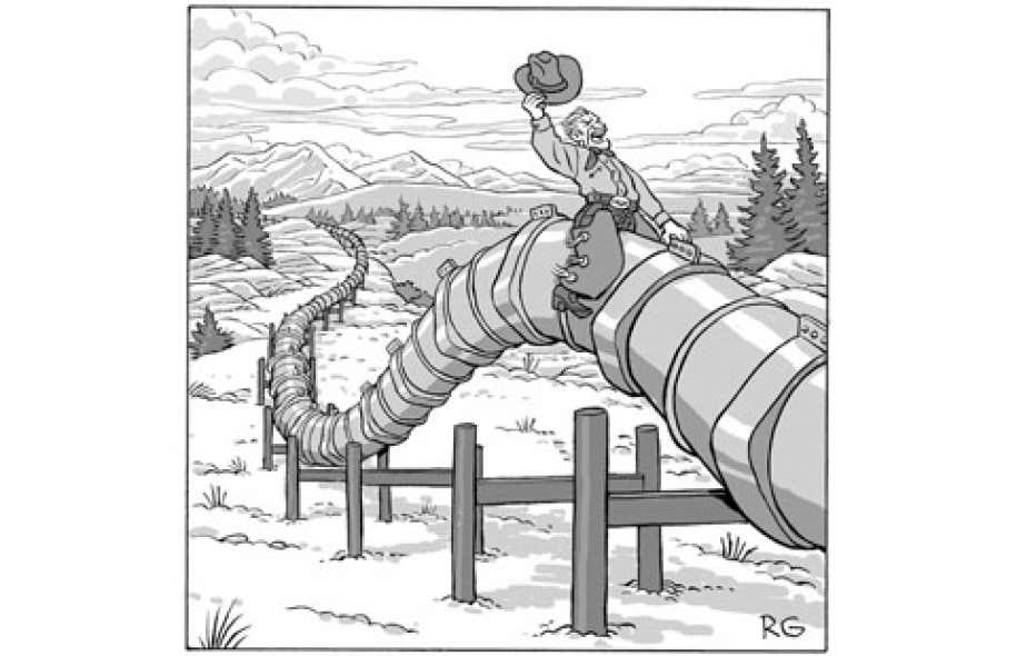Dans le cas du projet d'Enbridge de transporter 300 000 barils de brut chaque jour par pipeline jusqu'a? Montre?al, Pauline Marois y voit un avantage pour les raffineries im- plante?es ici.