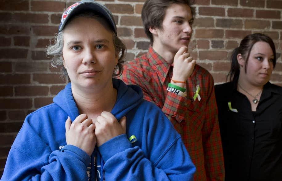 Christine Robidoux, Derek Myatte et Gabrielle Provost Leblanc, des raccrocheurs de l'escouade des Journées de la persévérance scolaire, feront la tournée des écoles pour dire aux élèves de tenir bon.