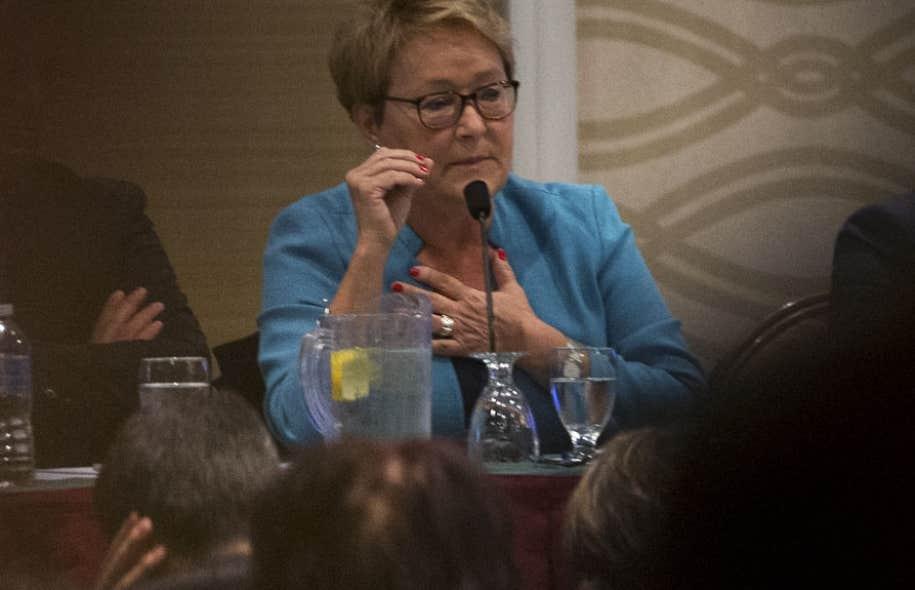 La chef démissionnaire du PQ, Pauline Marois, à Laval samedi