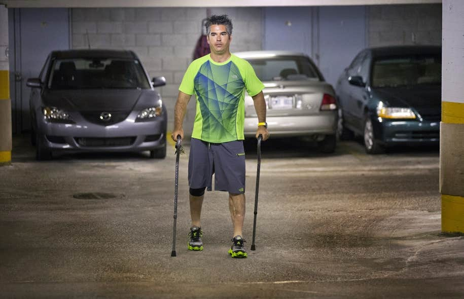 Depuis plus de 16 ans maintenant, Nicolas doit vivre avec les séquelles d'un accident de motocyclette qui l'a laissé handicapé.