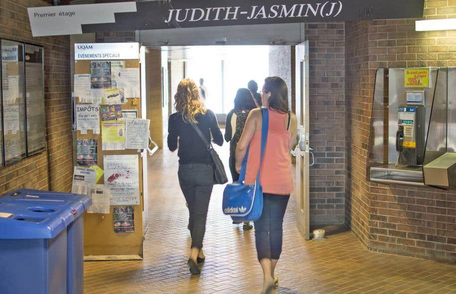 Un couloir de l'Université du Québec à Montréal