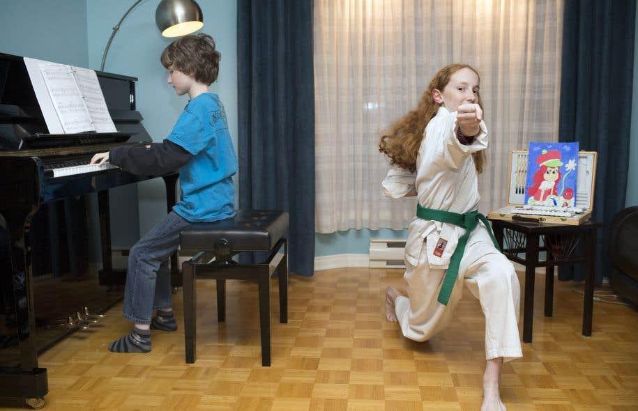 Ethan, 9 ans, et sa sœur Victoria, 11 ans, sont tous les deux atteints du TDAH.