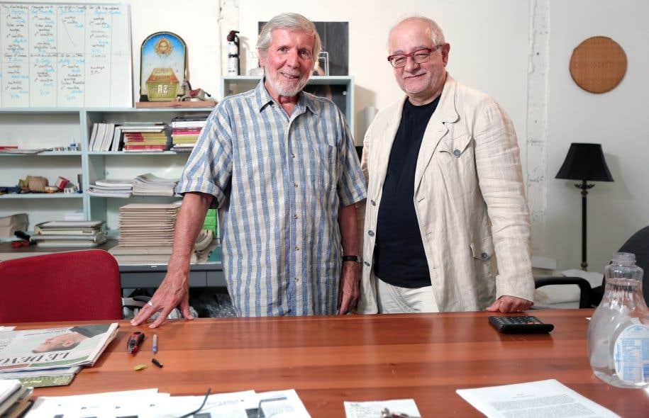 Le directeur de Triptyque, Robert Giroux, et le directeur général de Nota bene, Guy Champagne