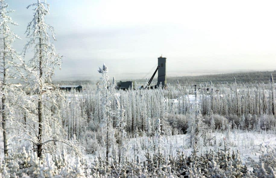 La mine d'or Éléonore, située à la Baie-James