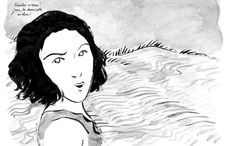Dessin tiré du roman graphique «La demoiselle en blanc» de Dominick Parenteau-Lebœuf et Éléonore Goldberg