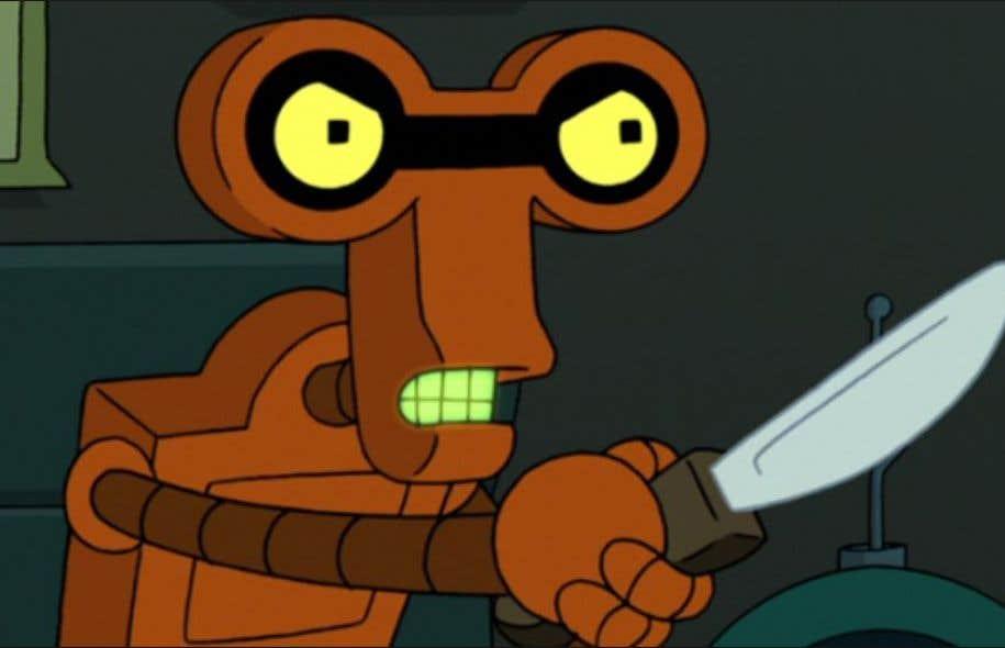 Crazy Roberto, robot criminel instable de la série fantaisiste Futurama.