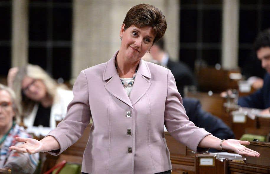 La ministre fédérale du Développement international et de la Francophonie, Marie-Claude Bibeau