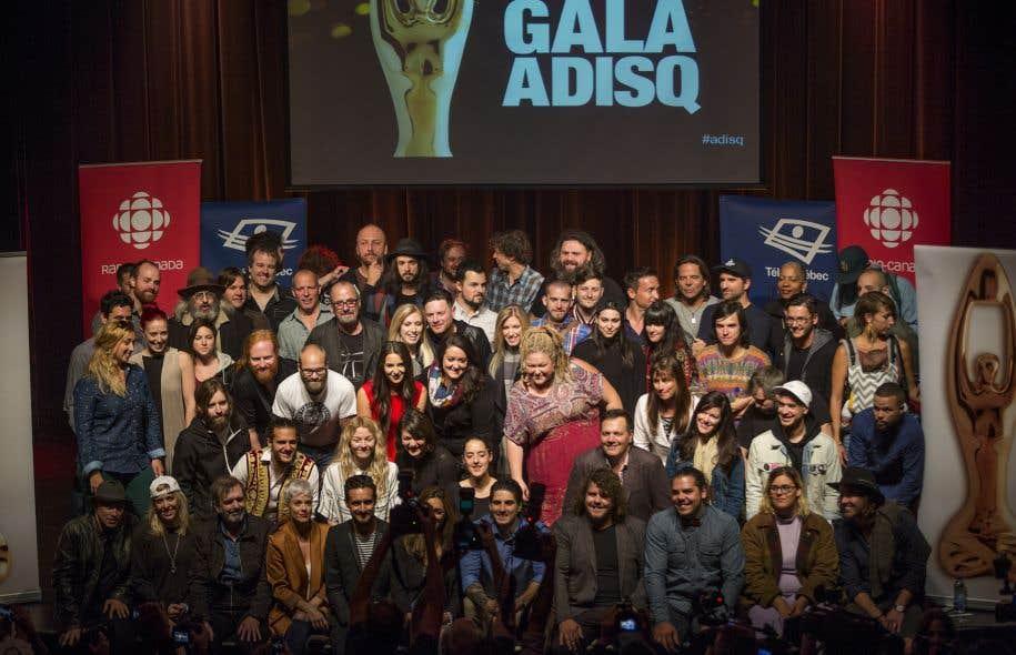 Les artistes mis en nomination au prochain gala de l'ADISQ