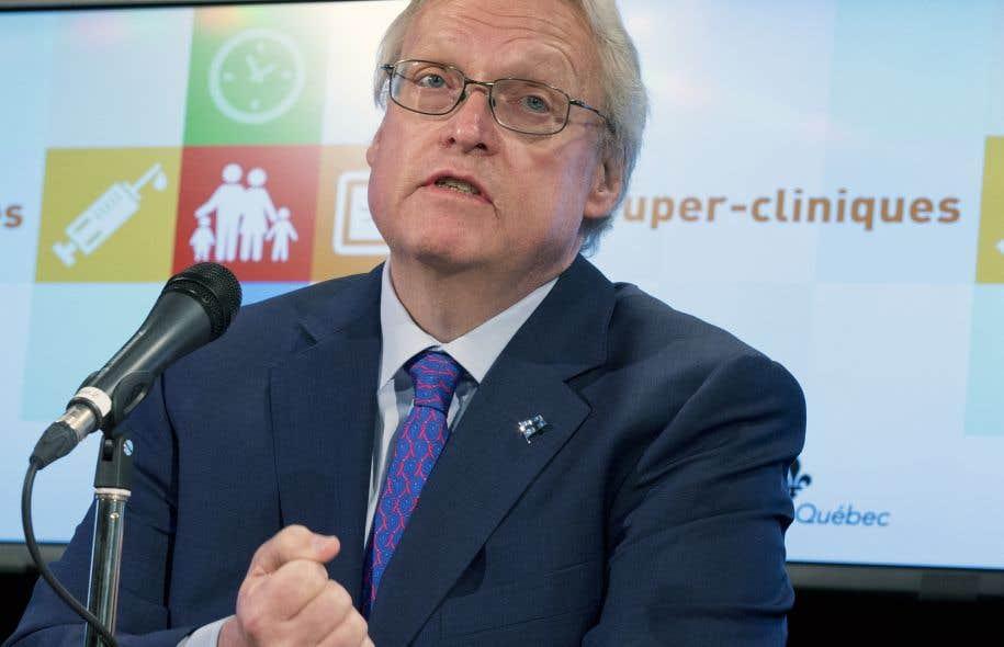 Le départ du ministre de la Santé, Gaétan Barrette, est indissociable de l'amélioration du système de santé, selon le secrétaire général du CPAS, Michel Jolin.