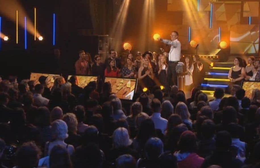 François Pérusse a remporté jeudi soir le Félix du meilleur album de l'année (humour) pour <em>L'album du peuple - tome 10</em>.