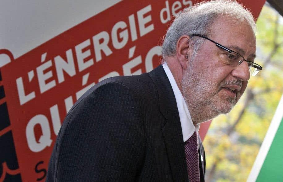 Le ministre de l'Énergie et des Ressources naturelles, Pierre Arcand