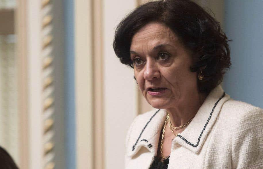 La ministre de la Réforme des institutions démocratiques, Rita de Santis