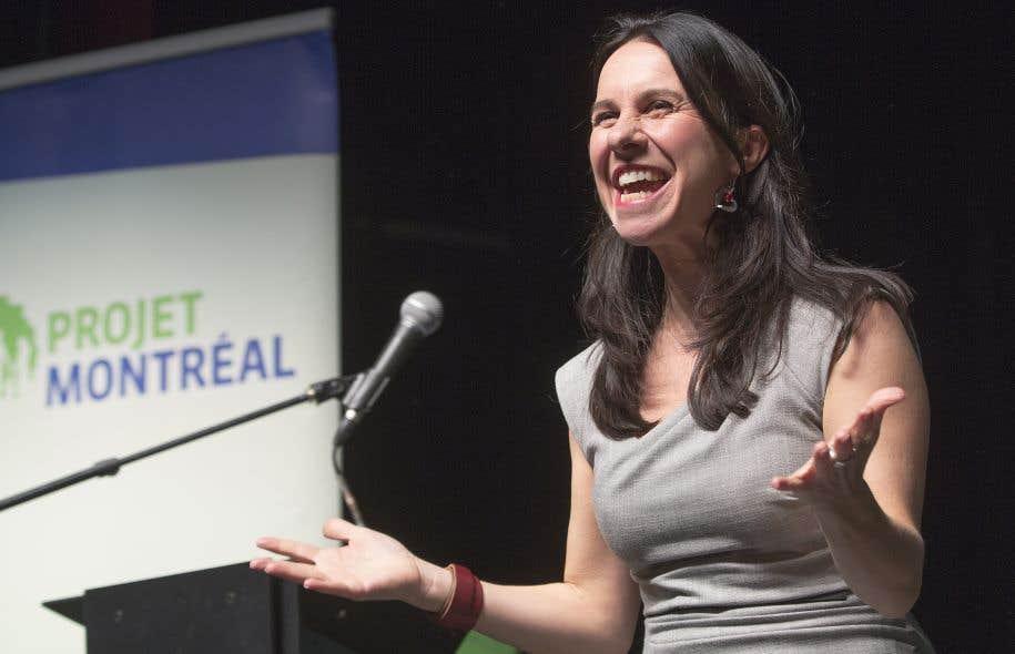 Valérie Plante est la première femme chef du parti fondé par Richard Bergeron. Projet Montréal tenait d'ailleurs sa première course à la direction.