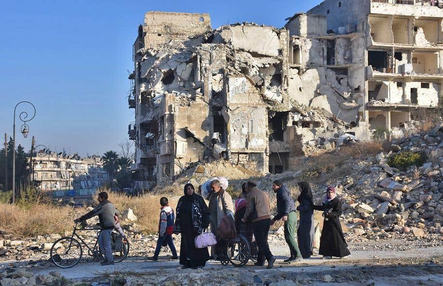 80 000 personnes ont fui Alep-Est depuis le 15novembre.