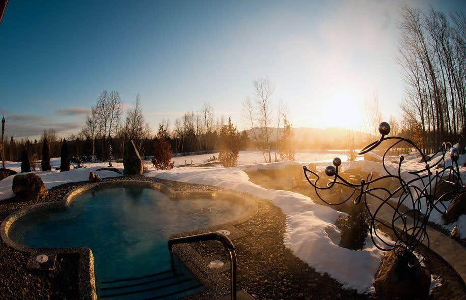 Les bains du spa d'Eastman, le plus ancien du genre au Québec, sont réputés par-delà nos frontières.