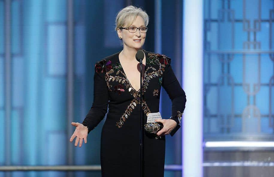 L'actrice Meryl Streep, dimanche soir lors des Golden Globes