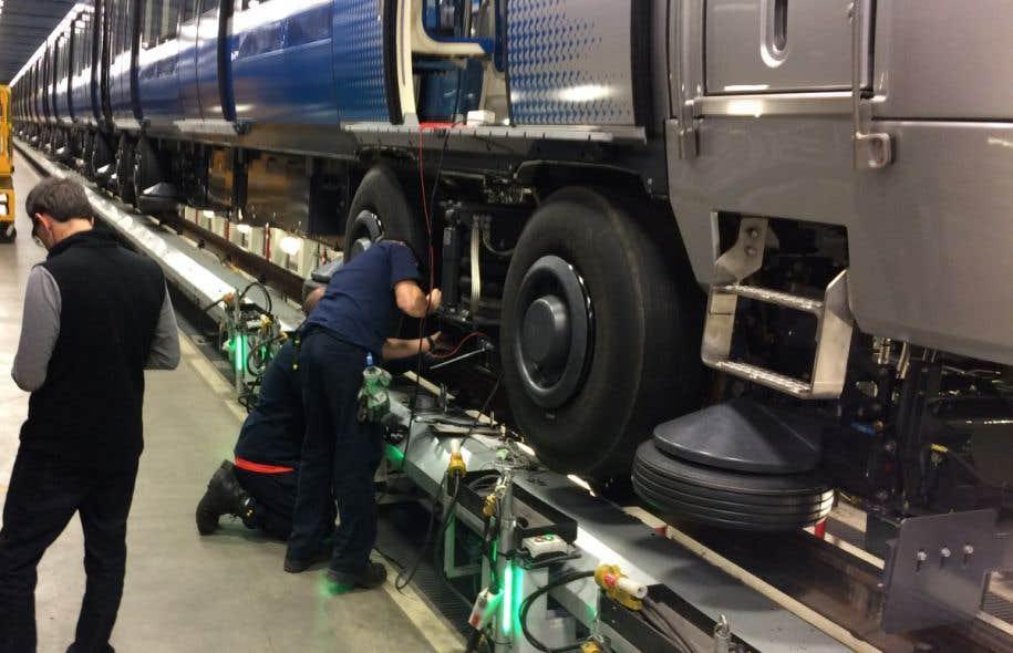 Retrait des trains Azur — Métro de Montréal