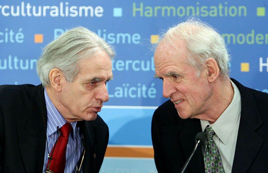 Le sociologue Gérard Bouchard et le philosophe Charles Taylor