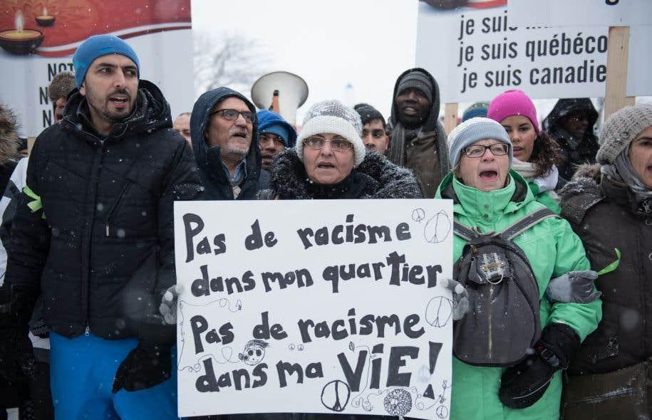 Marche en solidarité avec la grande mosquée de Québec, le 5 février