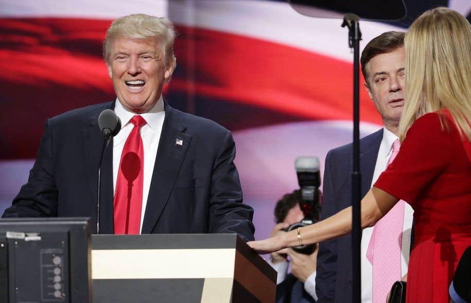 Donald Trump et Paul Manafort lors de la convention républicain à Cleveland, en juillet dernier