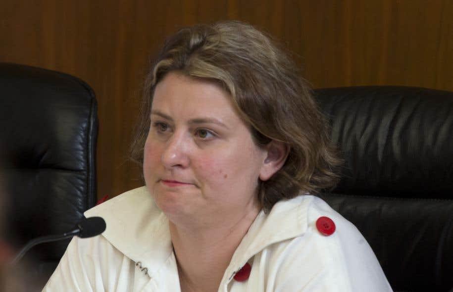 La présidente de la CSDM, Catherine Harel Bourdon