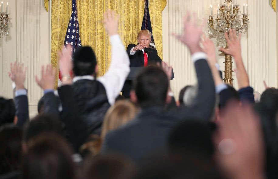 L'échange acrimonieux entre Donald Trump et les journalistes a duré plus de 75 minutes