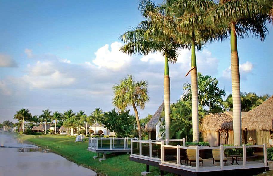 L'Aztec RV Resort «a l'amplitude et l'élégance d'un rêve architectural à la Donald Trump, situé plutôt à l'échelle d'un palmier».