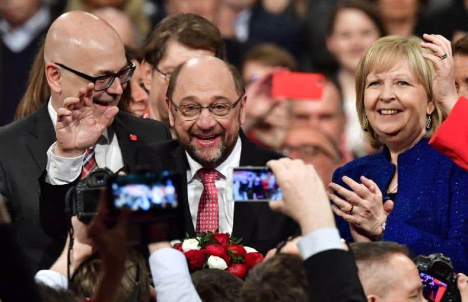 «Je veux devenir chancelier», a martelé Martin Schulz