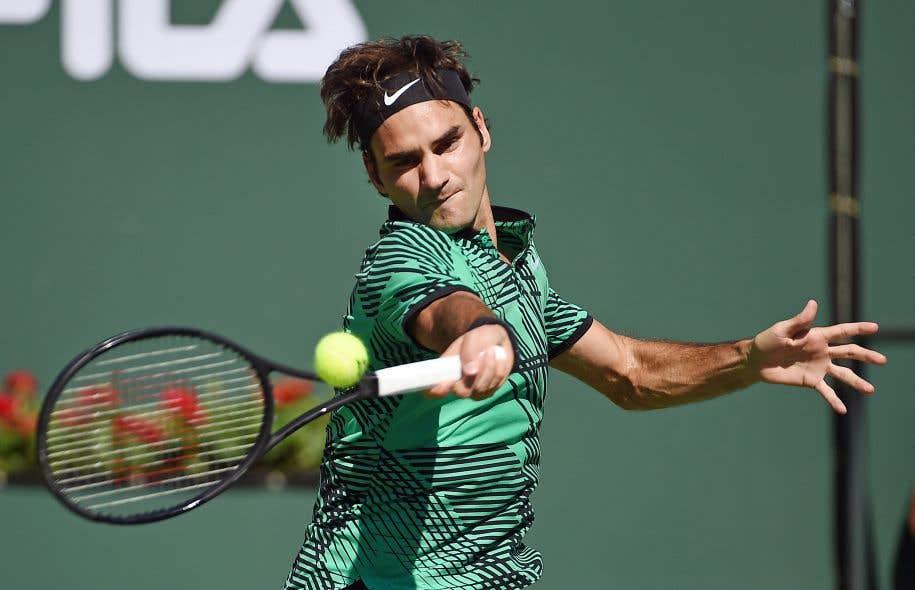 Roger Federer lors du match de finale contre son compatriote Stan Wawrinka