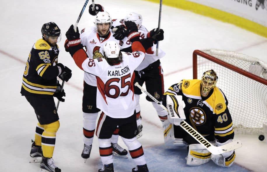 Les Sénateurs sont sortis vainqueurs de la prolongation lundi contre les Bruins.