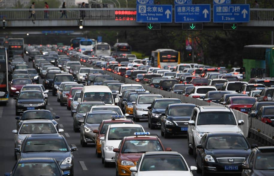 Une vue du trafic à Pékin