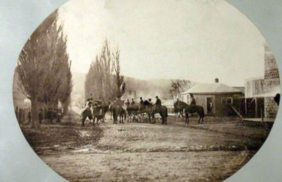 Le Montreal Hunt Club sur le chemin Mile End, 1859
