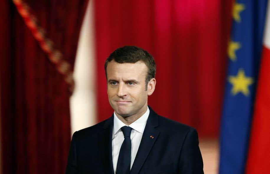 Le nouveau président français, Emmanuel Macron