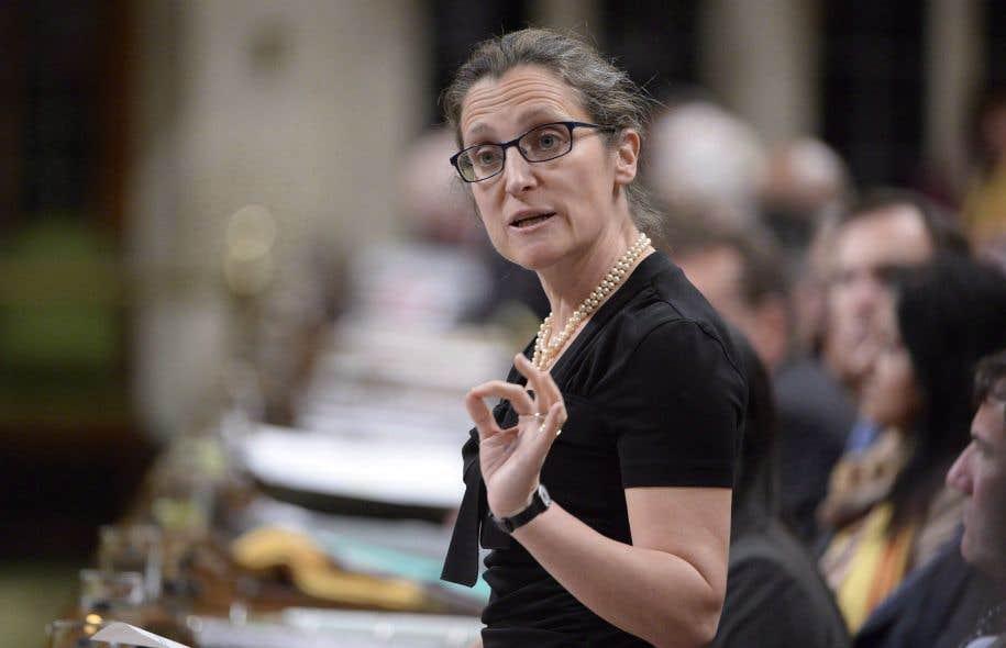Le discours de la ministre Chrystia Freeland précèdera de quelques jours le dévoilement de la nouvelle politique de défense du Canada, prévu le 7juin.