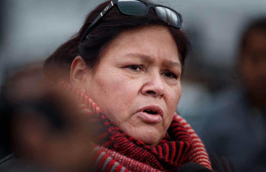 Viviane Michel, présidente de la Fédération des femmes autochtones du Québec parle de «violences institutionnelles».<br />