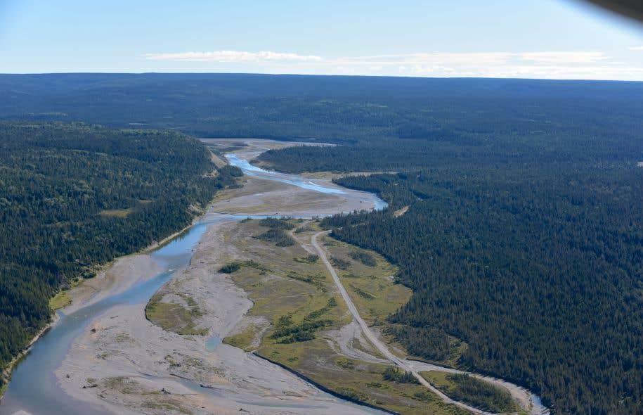 La rivière Jupiter, sur l'île d'Anticosti, abrite des saumons de l'Atlantique, une espèce en voie de disparition.