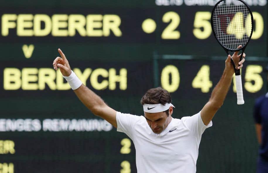 Le septuple lauréat de Wimbledon s'est qualifié pour la onzième fois pour la finale du tournoi londonien grâce à son succès contre le Tchèque Tomas Berdych.