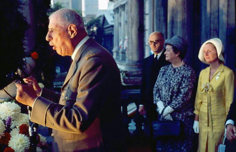 «De Gaulle s'apprêtait à aller défendre le droit à l'autodétermination du Québec devant Pearson à Ottawa», selon Denis Monière.