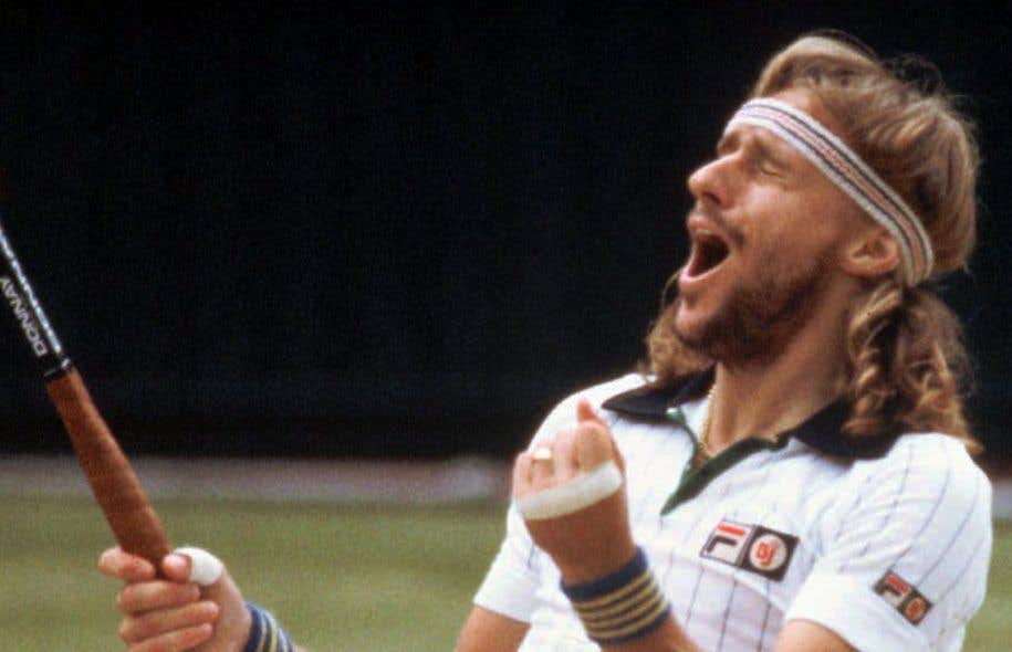 Federer et Nadal, tout comme leurs prédécesseurs qui ont marqué la jeunesse dans les années 1980 du narrateur, sont là, dans ce journal qui relate un revers, celui d'un petit gars qui rêvait de monter au filet pour ressembler à Borg, Becker, McEnroe(sur la photo), et que l'asthme a envoyé ailleurs.