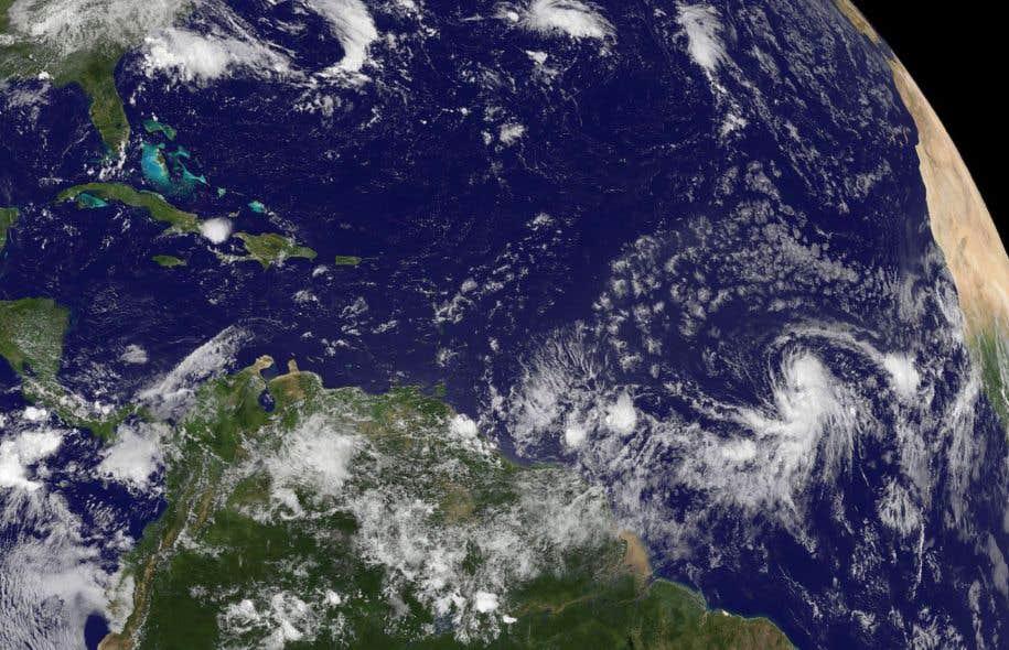 Une dépression tropicale dans l'océan Atlantique, en août 2015