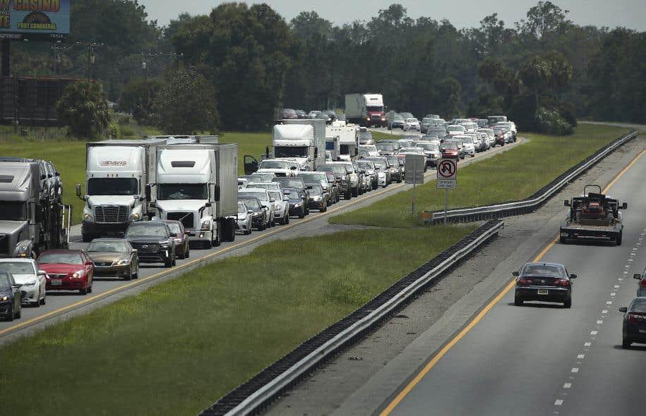 L'ordre d'évacuation a causé la congestion de l'autoroute 75 Nord à Wildwood, en Floride.