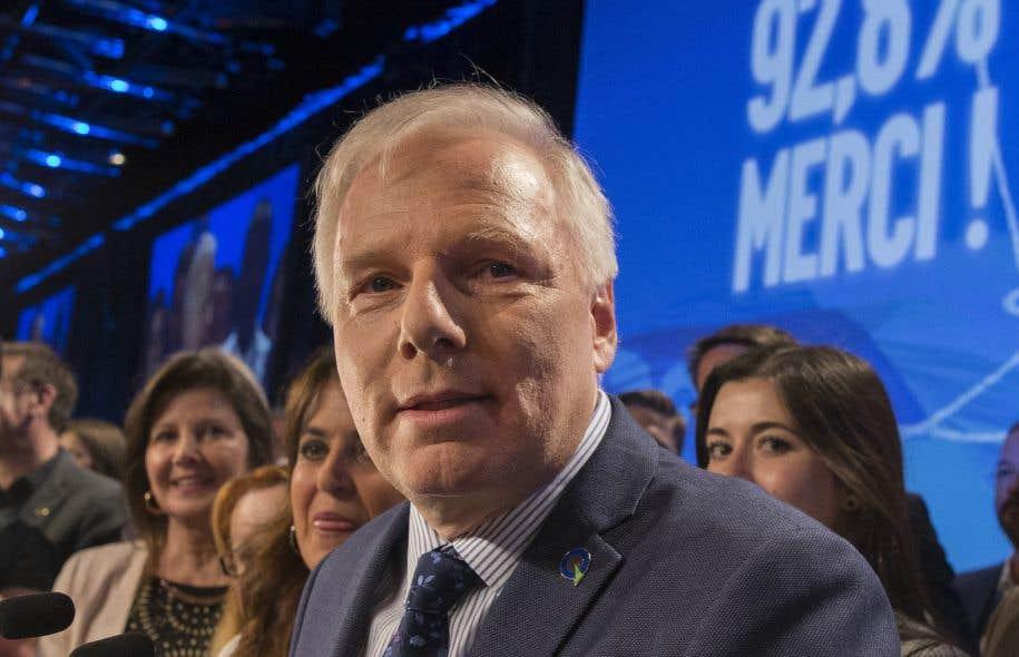 Le chef péquiste, Jean-François Lisée, a obtenu 92,8% au vote de confiance lors cadre du congrès national de son parti.