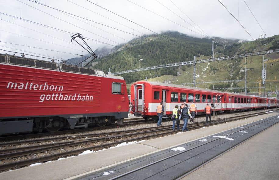 Un accident de train en Suisse fait 30 blessés (police)