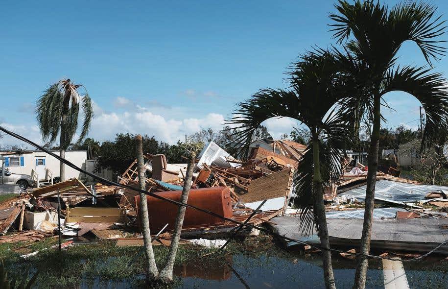 Des maisons ont été détruites au passage d'Irma, à Naples, en Floride.