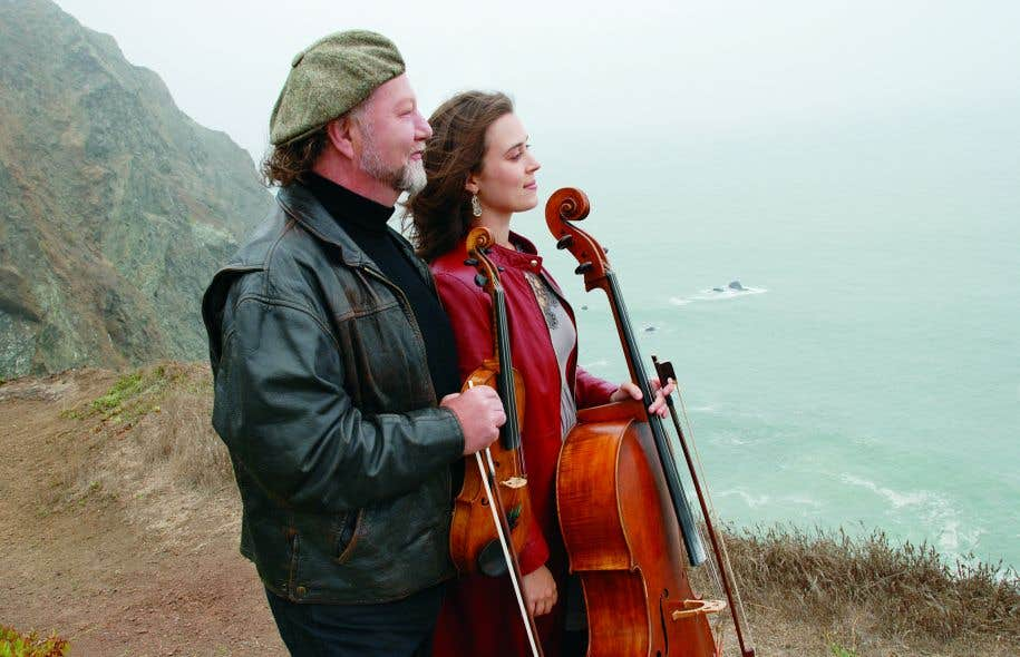 Levioloniste Alasdair Fraser et la violoncelliste Natalie Haas