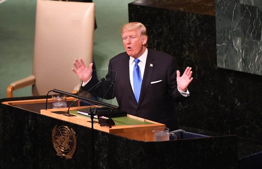 À l'Assemblée générale des Nations unies, le président Donald Trump a menacé la Corée du Nord de destruction totale et a attaqué frontalement l'Iran et le Venezuela.