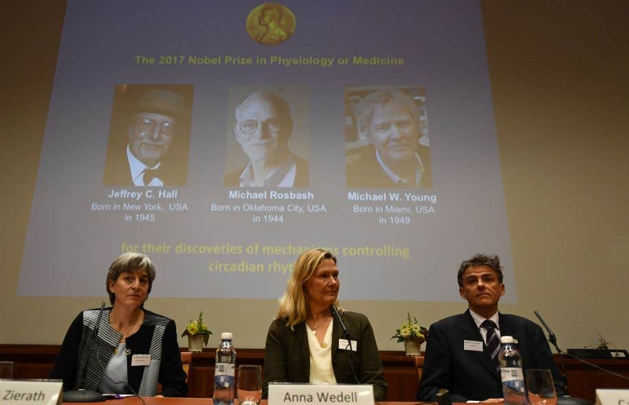 """Résultat de recherche d'images pour """"nobel prize 2017 medecine genetic"""""""