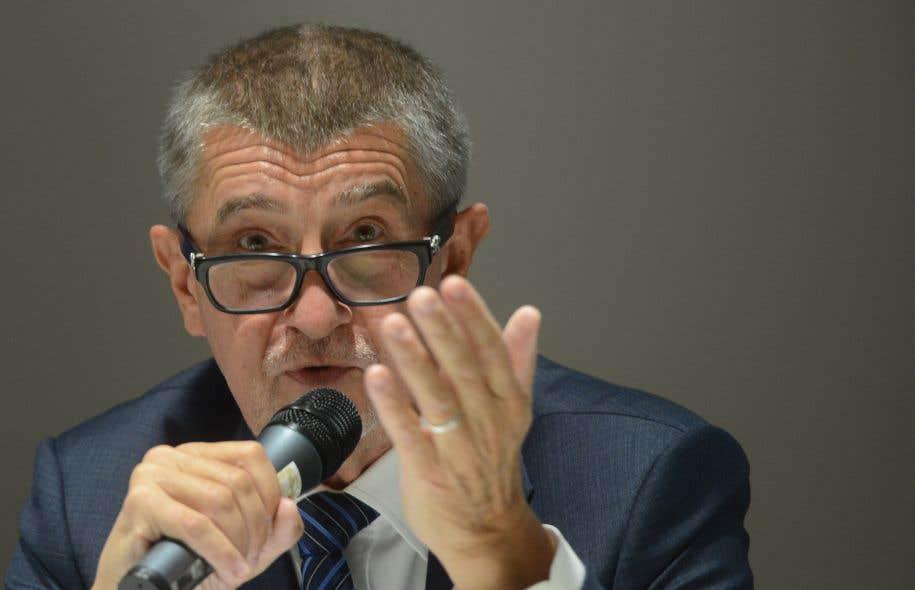 Andrej Babis, le chef du mouvement centriste ANO, au début du mois d'octobre
