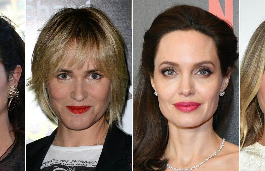 À partir de la gauche, les actrices Judith Godreche, Angelina Jolie, Gwyneth Paltrow et Asia Argento